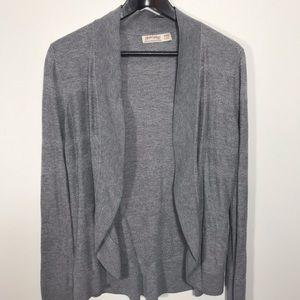 Faded Glory Grey Open Cardigan Sweater